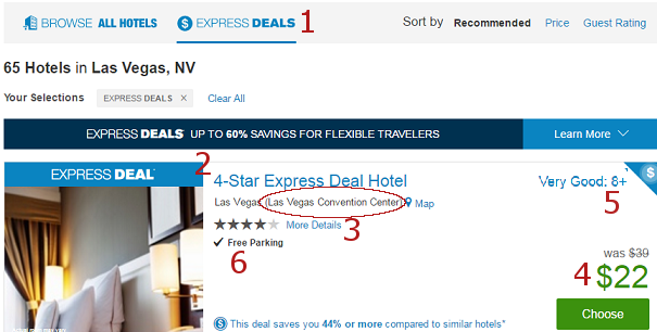 Priceline Express Deals Hotel List